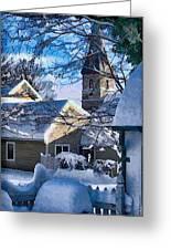 Snow On Back Alley - Shepherdstown Greeting Card