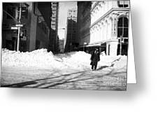 Snow On Broadway 1990s Greeting Card