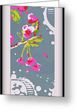 Snow On Cherry Blossom Greeting Card by Wendy Wiese