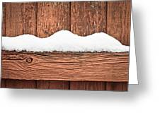 Snow On Fence Greeting Card by Tom Gowanlock