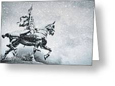 Snow On Joan Greeting Card