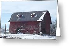 Snow On Roof Greeting Card