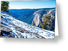 Snow On Sentinel Dome In Yosemite Np-ca Greeting Card