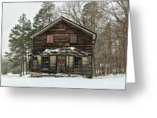 Snow On The General Store Greeting Card