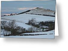 Snow On The Hill Greeting Card