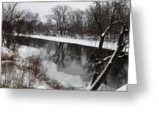Snow On The River Greeting Card