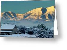 Snow On Utah Mountains Greeting Card