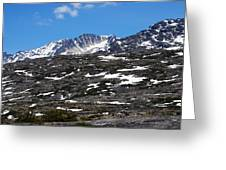 Snow Patched Mountain Greeting Card