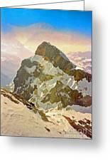 Snow Peaks Of Mount Titlis Greeting Card
