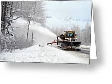 Snow Plow Greeting Card