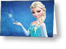 Snow Queen Elsa Frozen Greeting Card