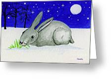 Snow Rabbit Greeting Card