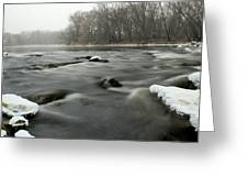 Snow Rapids Greeting Card