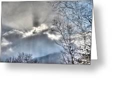 Snow Rays Greeting Card
