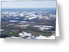 Snow Remnants On The Palouse Greeting Card