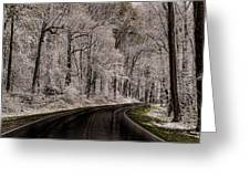 Snow Road Greeting Card