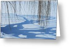 Snow Shadows I Greeting Card