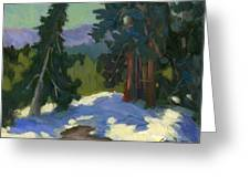 Snow Shadows Mammoth Mountain Greeting Card