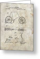 Snow Shoe Attachment For Bicycles Patent 1896 Greeting Card