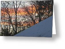 Snow Sunset Greeting Card