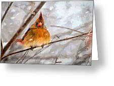Snow Surprise - Painterly Greeting Card