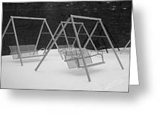Snow Swings Greeting Card