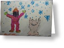 Snow Time Greeting Card