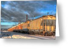 Snow Train Greeting Card