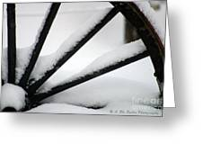 Snow Wheel Greeting Card