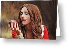 Snow White Greeting Card by Hazel Billingsley