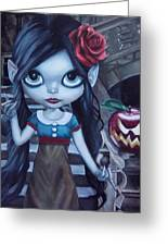 Snow White Greeting Card by Lori Keilwitz