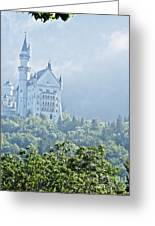 Snow White's Palace In Morning Mist Greeting Card