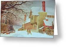 Snowballing At Tiddlington Greeting Card