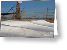 Snowbank On A Country Road Greeting Card by Robert D  Brozek