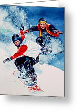 Snowboard Psyched Greeting Card