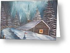 Snowbound Holiday Greeting Card