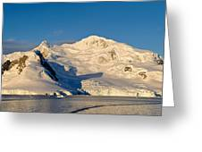 Snowcapped Mountain, Andvord Bay Greeting Card