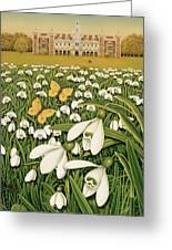 Snowdrop Day, Hatfield House Greeting Card