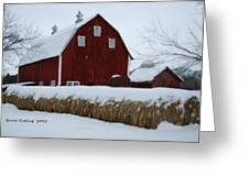Snowed In Barn Greeting Card