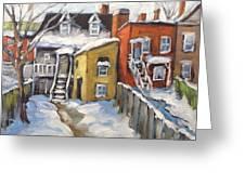 Snowed In Yards By Prankearts Greeting Card