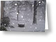 Snowfall On Ayers Greeting Card