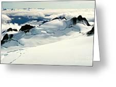Snowfield Below Greeting Card