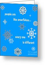 Snowflakes 5 Greeting Card