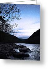 Snowflakes On The River Greeting Card