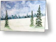 Snowing In Christmas Greeting Card