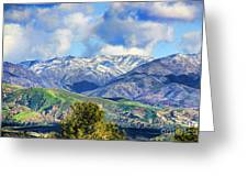 Snowing In Orange County Greeting Card