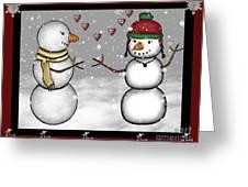 Snowman Christmas 4 Greeting Card