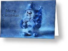 Snowman Merry Christmas Photo Art 01 Greeting Card