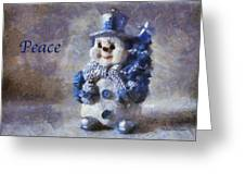 Snowman Peace Photo Art 01 Greeting Card