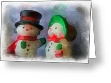 Snowman Photo Art 09 Greeting Card